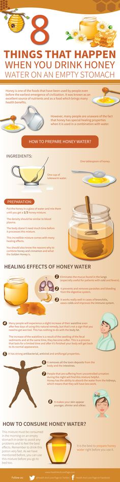 Tips to prepare honey water and how to consume it. Drinking honey water every morning on an empty stomach offers tons of health benefits. Here are amazing things will happen when you do it. detox drinks for stomach Health And Nutrition, Health And Wellness, Health Fitness, Men Health, Men's Fitness, Nutrition Program, Nutrition Education, Muscle Fitness, Workout Fitness
