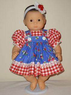 Dress and Headband for 15 inch Bitty Baby Doll by SewbeitsDollWear