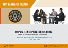 Interpreting Agencies, Interpretation Services Denver, Language Interpreter ---------------------------------------------- Visit: http://www.bestlanguagessolution.com/  Verbal communication is an inevitable part of our everyday life. Best Languages Solution is providing certified language services to NGOs/businesses and individuals to get over the language barriers. It is providing affordable language interpreters for medical, tourism and other purposes for their clients. With Best Languages