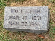 Prince William County Genealogy: Tombstone Tuesday: William L. Lynn #genealogy