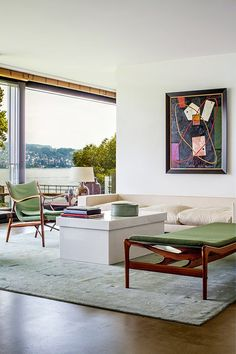 home in zurich,modern interiors, finn juhl,danish,art