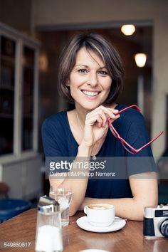 Foto de stock : Woman having coffee break