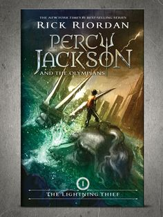 New Percy Jackson paperback covers, one being released each day this week at Facebook.com/Percyjackson. Here's the Lightning Thief by Rick Riordan.