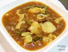 Siggy Spice: Hamburger  roasted red potato and green bean beef soup