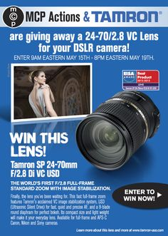 600x800 Tamron A007 MCP Sweeps 2013 Enter to Win a Tamron Lens 24 70 2.8 VC for Canon, Nikon, or Sony
