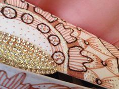 The Mendhi Henna Clutch handpainted with Swarovski by Vespetta, $275.00