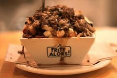 Frite Alors poutine Montreal -Montreal's top five poutine joints Tried it and it was different but not that great tasting to me. Sorry montreal. Montreal Food, Montreal Ville, Montreal Quebec, Quebec City, Montreal Vacation, Montreal Travel, Alberta Canada, Canadian Poutine, Viajes