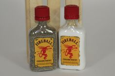 FireBall Salt and Pepper Shaker, Upcycled Liquor Bottles by CountryRichDesigns on Etsy https://www.etsy.com/listing/192452570/fireball-salt-and-pepper-shaker-upcycled