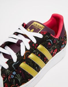 Image 2 ofadidas Originals Floral Print Superstar With White Shell Trainers