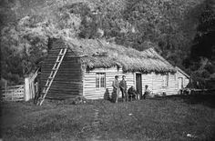 The couple are sitting outside their home around Standing beside them are two guests: F. Early Settler, New Zealand, House Styles, Home, Google Search, Maori, Ad Home, Homes, Haus