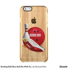 Bowling Ball Shoe And Pin With Your Custom Name Clear iPhone 6/6S Case