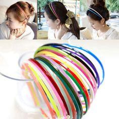 En gros 30 pcs 4mm En Plastique Dents Dame Fille Dame Enfants Bandeau Bandeau Cheveux Accessoires