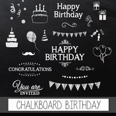 Beer pong birthday party chalkboard invitation chalkboard chalkboard clipart birthday digital clip art chalkboard birthday pack with chalkboard happy birthday congratulations invite elements filmwisefo Choice Image