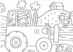 Afbeeldingsresultaat voor tractor kleurplaat