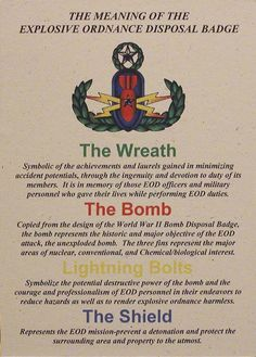 The Meaning of the EOD Badge