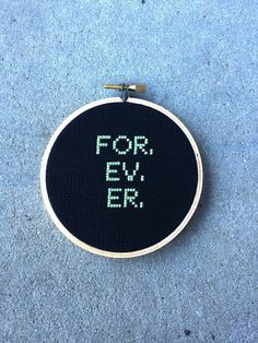 FOR. EV. ER.  Sandlot handmade cross stitch by teenytinytantrums