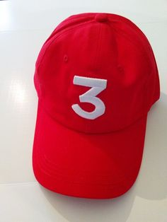 Chance The Rapper RED 3 Strapback DAD HAT Kit Kat Commercial