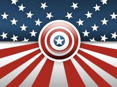 american flag with captin america | Captain America by D4Nart
