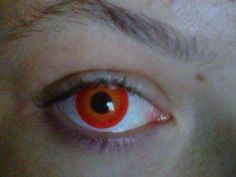 I found 'Red Glow Vampire Contact Lenses' on Wish, check it out!