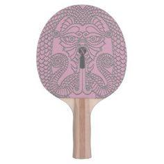 Customizable Dragon Ping Pong Paddle black on pink Dragon Face, Pink Dragon, Face Design, Dog Design, Ping Pong Paddles, Day Up, Games, Prints, Black