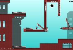 Skullface  http://armorgames.com/play/14121/skullface Plus rapide et plus souple que Mario, relevez le défi de ce jeu qui ne donne pas le droit à l'erreur. (A partir de 12 ans)