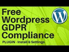 Free Wordpress WP GDPR Compliance Plugin Settings Install HowTo Set Up - https://www.howtowordpresstrainingvideos.com/free-wordpress-plugins/free-wordpress-wp-gdpr-compliance-plugin-settings-install-howto-set-up/