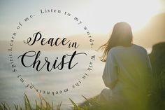 PEACE IN CHRIST poster // Doctrine and Covenants 19:23 // LDS Youth Theme // Good Life Printables - Free Printables