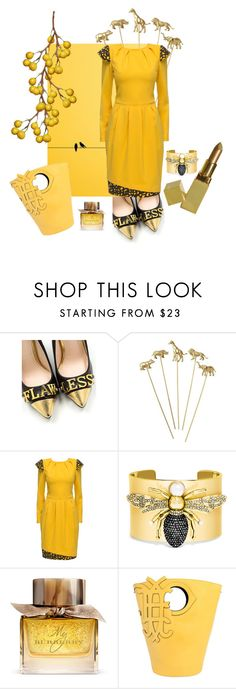 """Untitled #9636"" by awewa ❤ liked on Polyvore featuring Lattori, BaubleBar, Burberry and Emilio Pucci"
