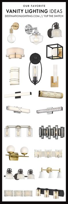 Sconces, vanities, and bath bars galore! Check out our blog for bathroom lighting ideas and inspiration.