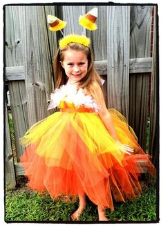 Candy Corn Tutu Dress Halter Custom Costume Newborn - 6x. $40.00, via Etsy.