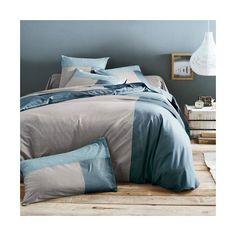 Housse de couette coton TRIO - Lagon/sable- Vue 1 Comforters, Sweet Home, Blanket, House Styles, Room, Furniture, Home Decor, Bedding, Recherche Google
