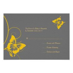 See MoreGray and Yellow Butterfly Wedding RSVP Personalized AnnouncementYes I can say you are on right site we just collected best shopping store that have