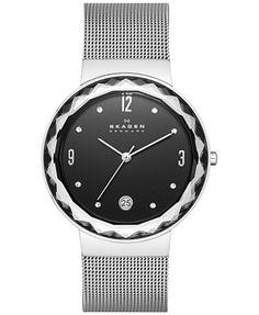 Skagen Women's Leonora Stainless Steel Mesh Bracelet Watch 34mm SKW2285 - A Macy's Exclusive