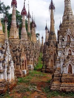 Temples in the jungle, Kakku, Burma/Myanmar.