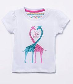 Blusa Infantil com Estampa de Girafas - Tam 0 a 18 meses   - Lojas Renner