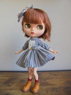 ◆ ブライスちゃん Outfit ストライプのミニワンピース 4点セット ◆_画像7
