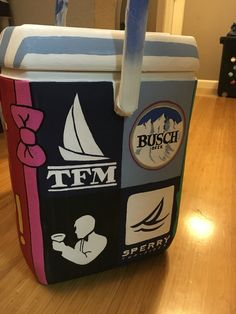 Frat Cooler - Frat Logos #TFM #RowdyGentlemen #Sperrys #Busch #Beer #Formal #TSM #Cooler #Sorority #Fraternity #Crafting #DIY