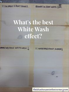 On occasion I have helped people find the perfect white wash look for their wood projects. Whether it's for an interior wall, exterior stain, piece of furniture or just a craft, there are ma… White Wash Ceiling, White Wash Wood Floors, White Wood Stain, White Wash Walls, White Washed Furniture, Stain On Pine, White Washing Wood, Blue Wood, White Washed Pine