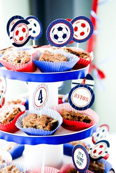 Image detail for -soccer party / Birthday / Party Photo: food for the gods (dessert bars ...