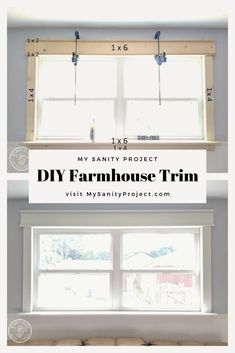 Use regular lumber to frame your windows and doors. farmhousestyle craftsmantrim ideas farmhouse trim baseboards home for 201919 ideas farmhouse trim baseboards home for 2019 farmhouseFarmhouse Farmhouse Trim, Farmhouse Windows, Farmhouse Style, Home Renovation, Home Remodeling, Craftsman Trim, Craftsman Style, Interior Minimalista, Home And Deco