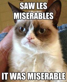 Grumpy Cat Les Mis -- miserable!