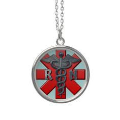 Registered Nurse Symbol Personalized Necklace