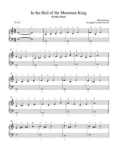 In the Hall of the Mountain King by Edward Grieg Piano Sheet Music | Rookie Level