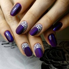 Purple Christmas Nail Art Designs Ideas For Winter Purple nail art looks great on long nails. Especially purple shades help out owners of extended nails Elegant Nail Designs, Elegant Nails, Beautiful Nail Designs, Beautiful Nail Art, Christmas Nail Art Designs, Christmas Nails, Purple Christmas, Winter Christmas, Purple Nail Art