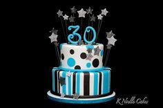 30th Birthday cake by K Noelle Cakes