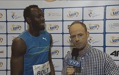 Share this Usain Bolt joking and polish journalist reaction Animated GIF with…
