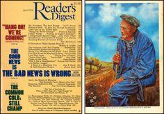 "Reader's Digest front and back cover, April 1984 Art Director:Donald H. Duffy Artwork on back: ""Reminiscence"" byAl Bertram"