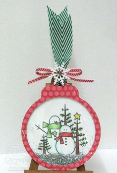 snowtag; can use an ornament punch; cute