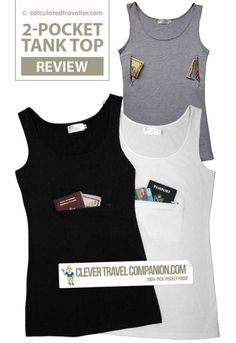a9f3412065364 Clever Travel Companion Pickpocket Proof Tank Top by Calculated Traveller   travelgadgets Fun Travel