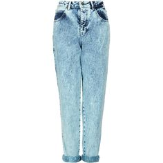 TOPSHOP MOTO Mint Acid Mom Jeans (180 BRL) ❤ liked on Polyvore featuring jeans, pants, bottoms, trousers, mint, mint green skinny jeans, topshop jeans, acid wash jeans, mint skinny jeans and blue acid wash jeans
